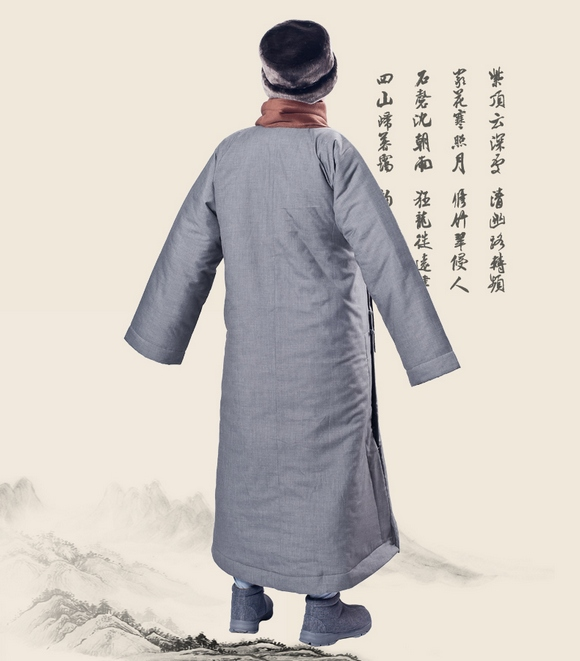 Monk Winter Warm Long Robe