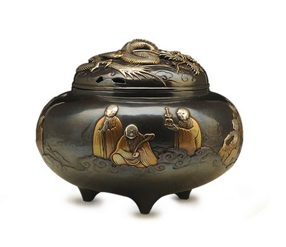 Japanese Handmade Copper Incense Burner