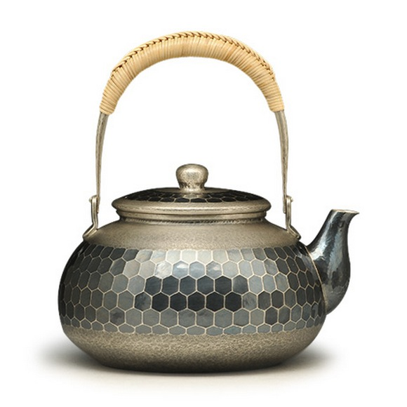 Japanese Silver Tea and Wine Kettle/Teapot