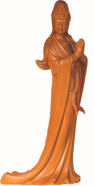 Kuwan Yin with folded palms (合掌观音)